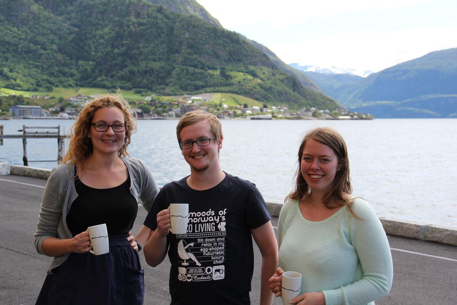 Fra venstre: Ingrid Watnedal Myrann, Stian Hegerland Hagen og Kathrine Steffensen.