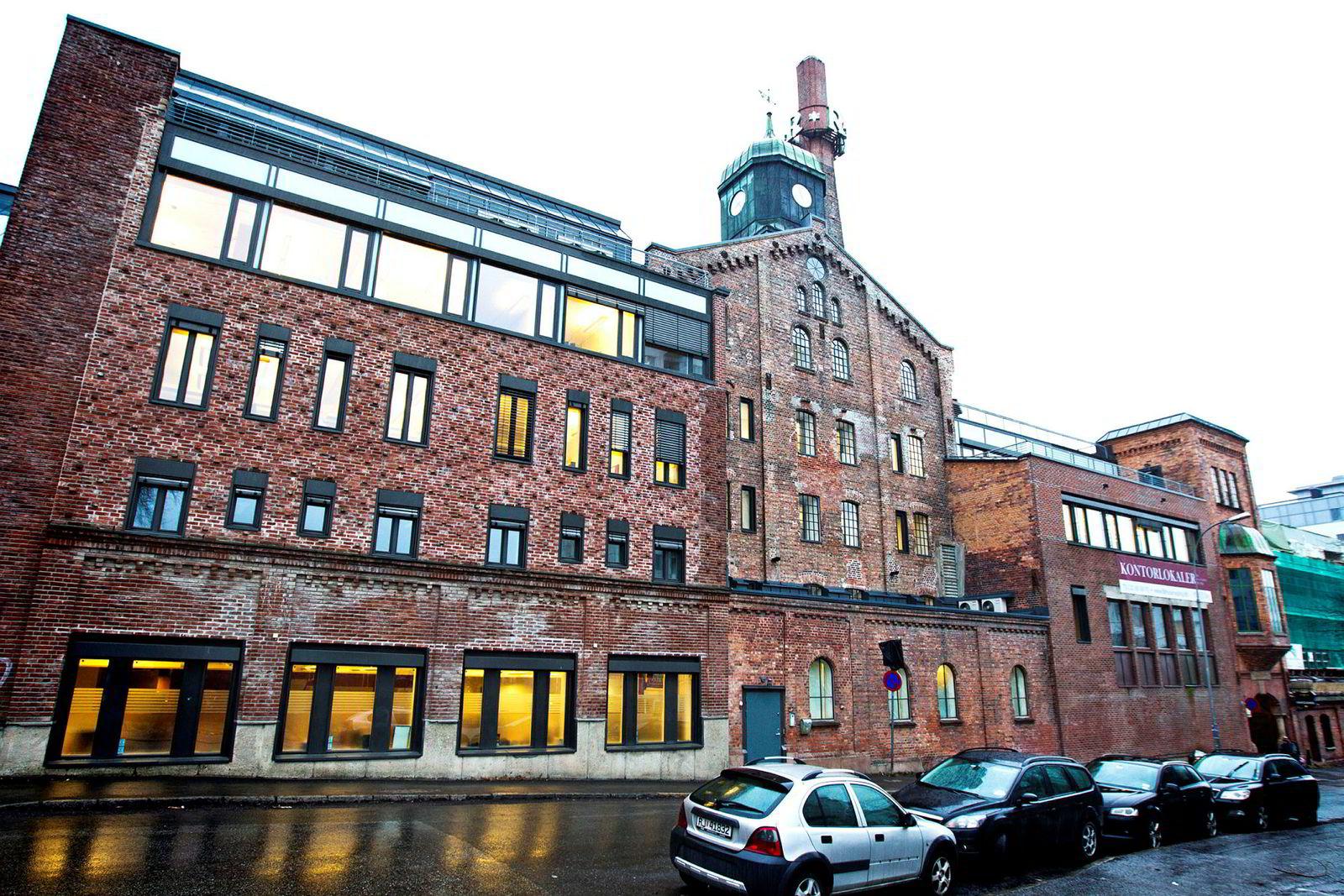 Det gamle hovedkvartalet til Ringnes i Thorvald Meyers gate 2 på Grünerløkka. Det tradisjonsrike bryggeriet ble startet i 1877 av Ellef Ringnes og broren Amund.