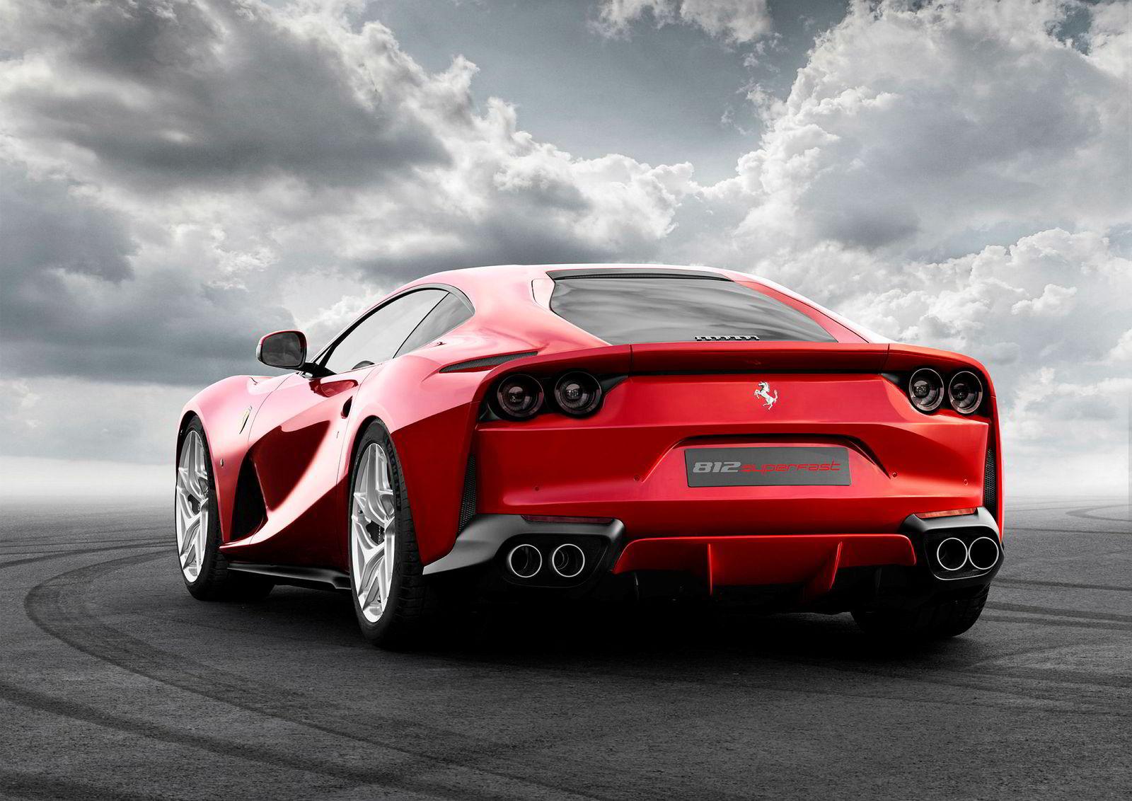 Ferrari 812 Superfast er den kjappeste Ferrari for gatebruk inntil den nye modellen SF90 Stradale kommer. Den er en hybrid som samlet yter 1000 hestekrefter.