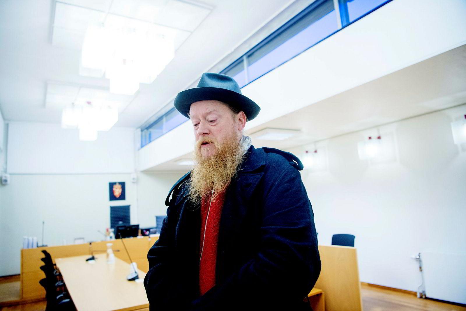 Styreleder Per Karsten Ims i Norwegian Wood Company under skiftesamlingen i Asker og Bærum tingrett i januar.