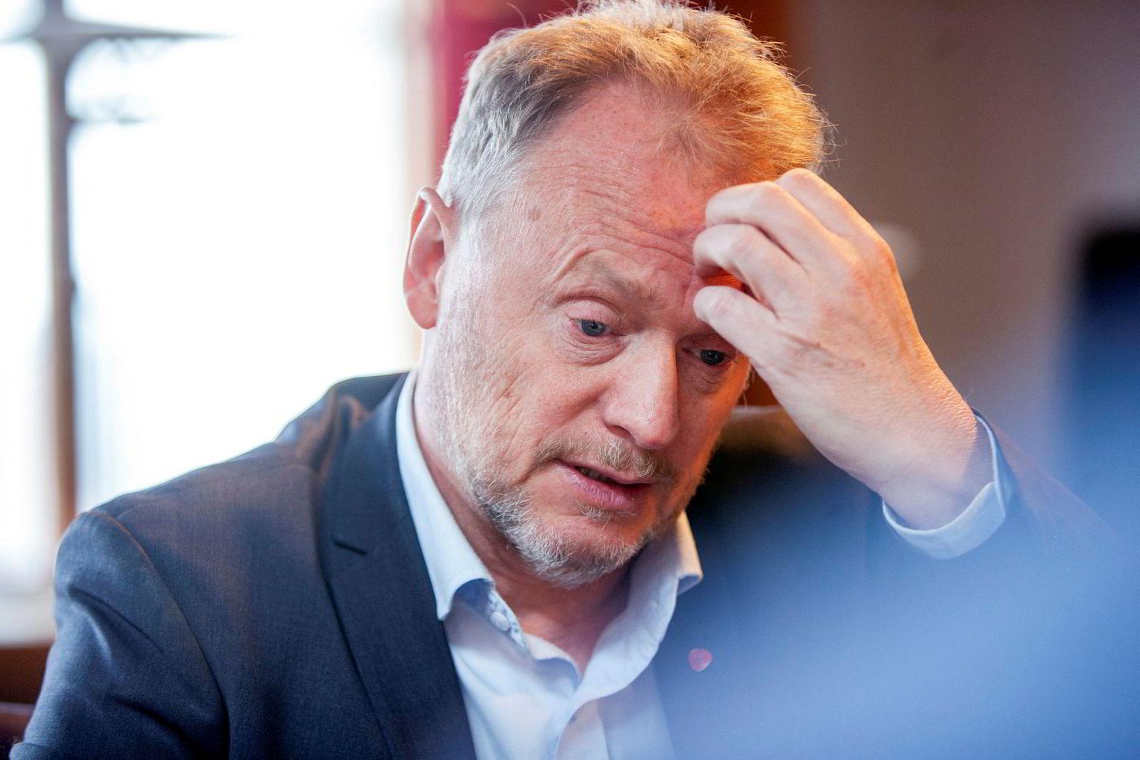Oslos byrådsleder Raymond Johansen i debatt om Oljefondet.
