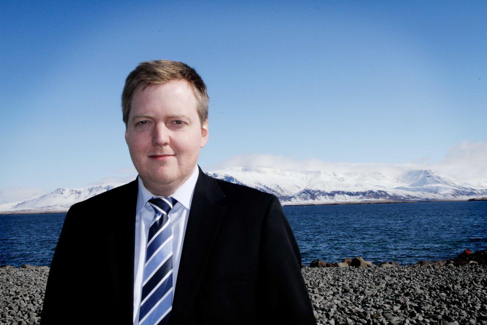 Sigmundur Davíd Gunnlaugsson, statsminister på Island. Foto: Anne Marte Vestbakke/