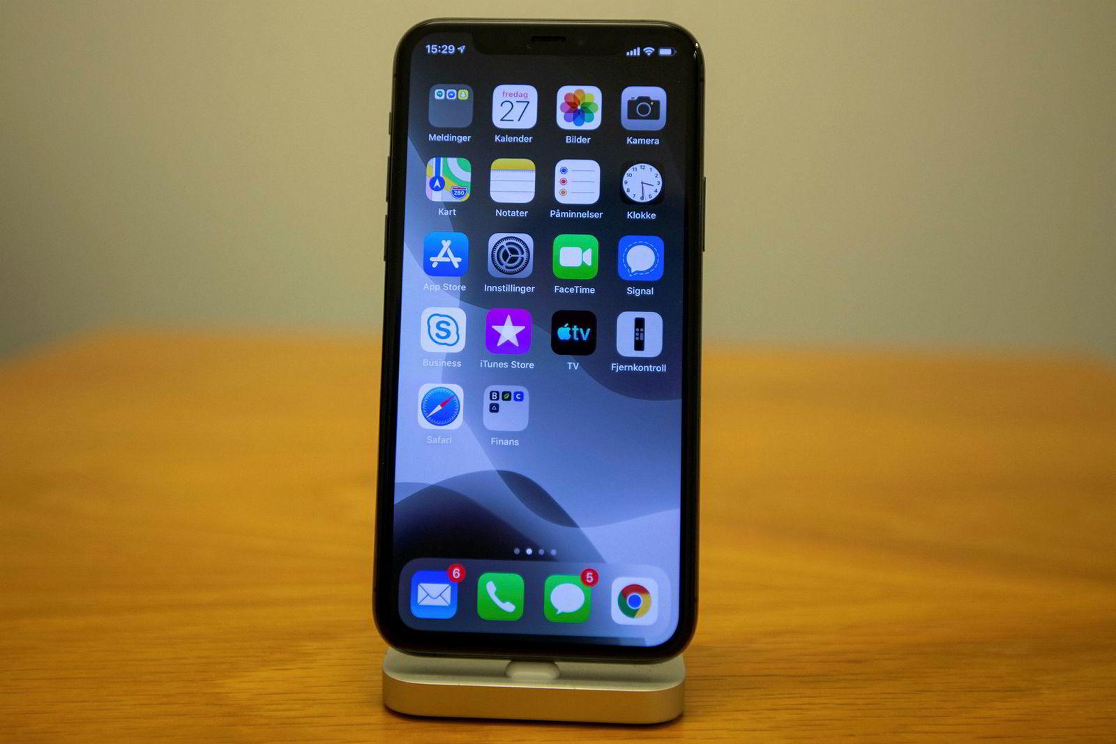 Fronten på Iphone 11 Pro inneholder lite nytt.