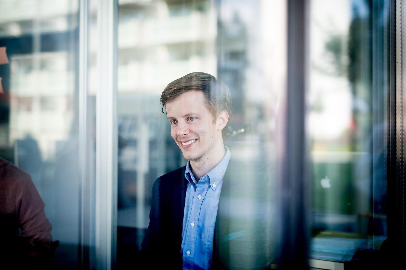 21.08.2015 Stavanger Henrik Jesman Sunde i Zoaring AS, de to gründerne har satset på infographic-filmer for bedrifter.                    FOTO: