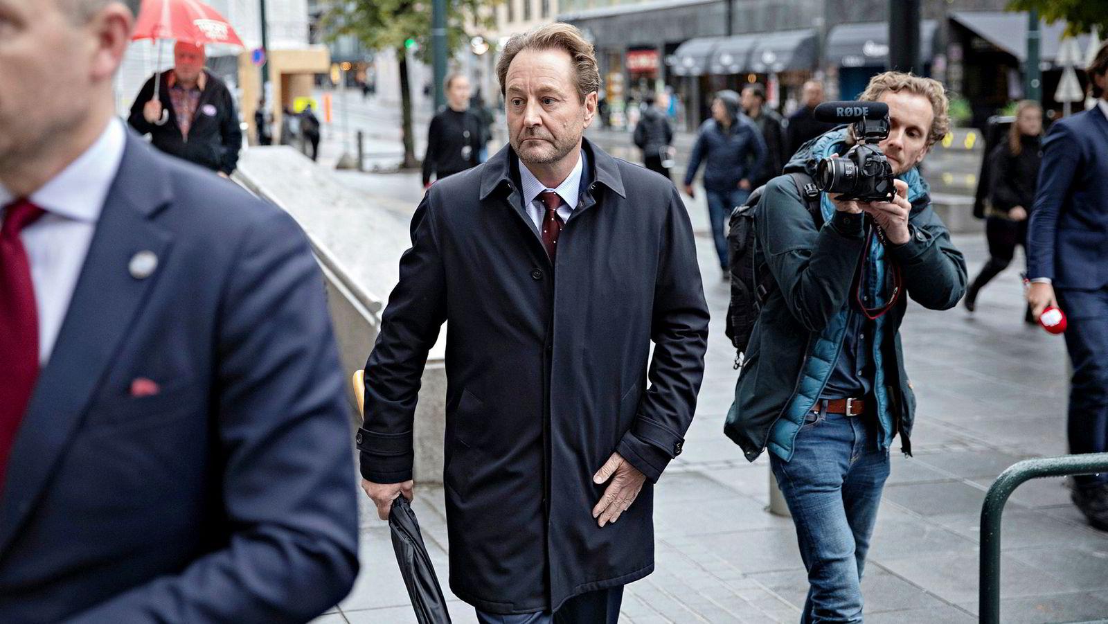 Kjell Inge Røkker utenfor Oslo Tinghus i Straffesaken mot Jan Erik Iversen i høst.