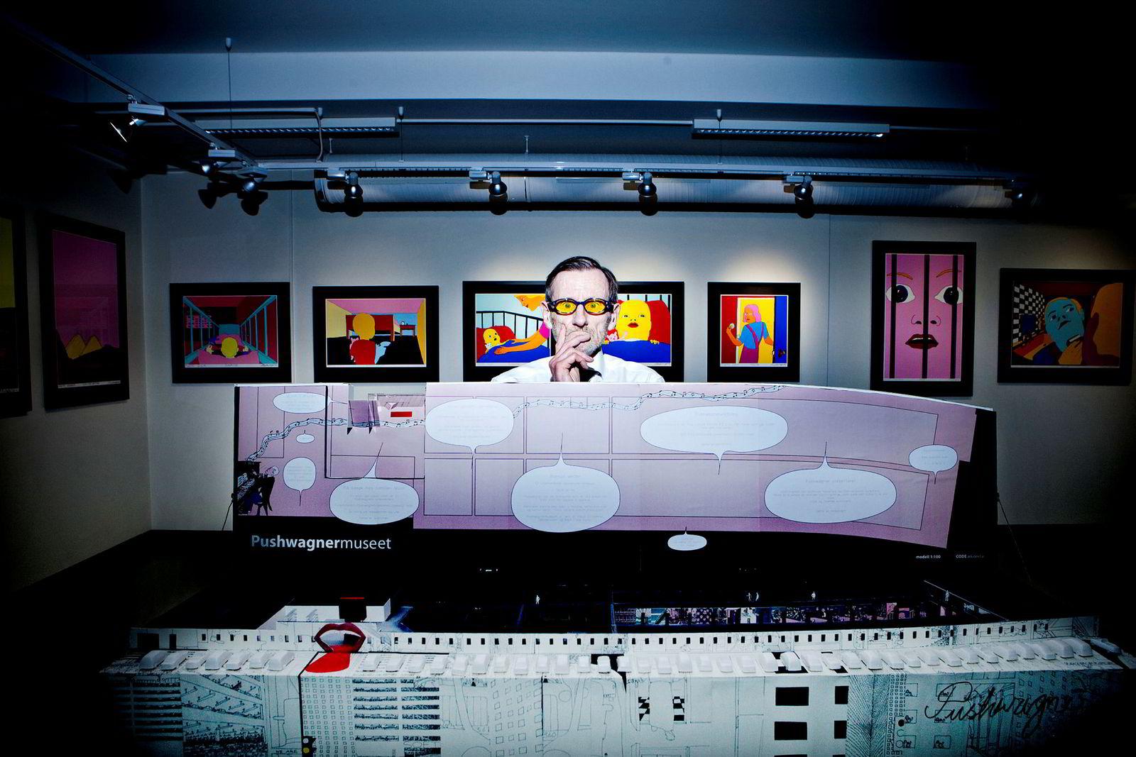 Terje Brofos fotografert i forbindelse med planer om et nytt museum på Akershus festning i 2011.