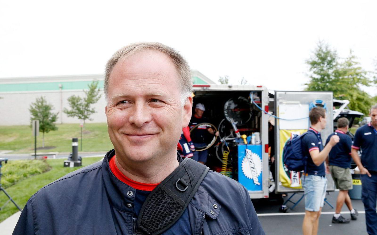 Kardiolog Stein Ørn er i tillegg til å være Alexander Kristoffs stefar også hans trener. Foto: Terje Pedersen/