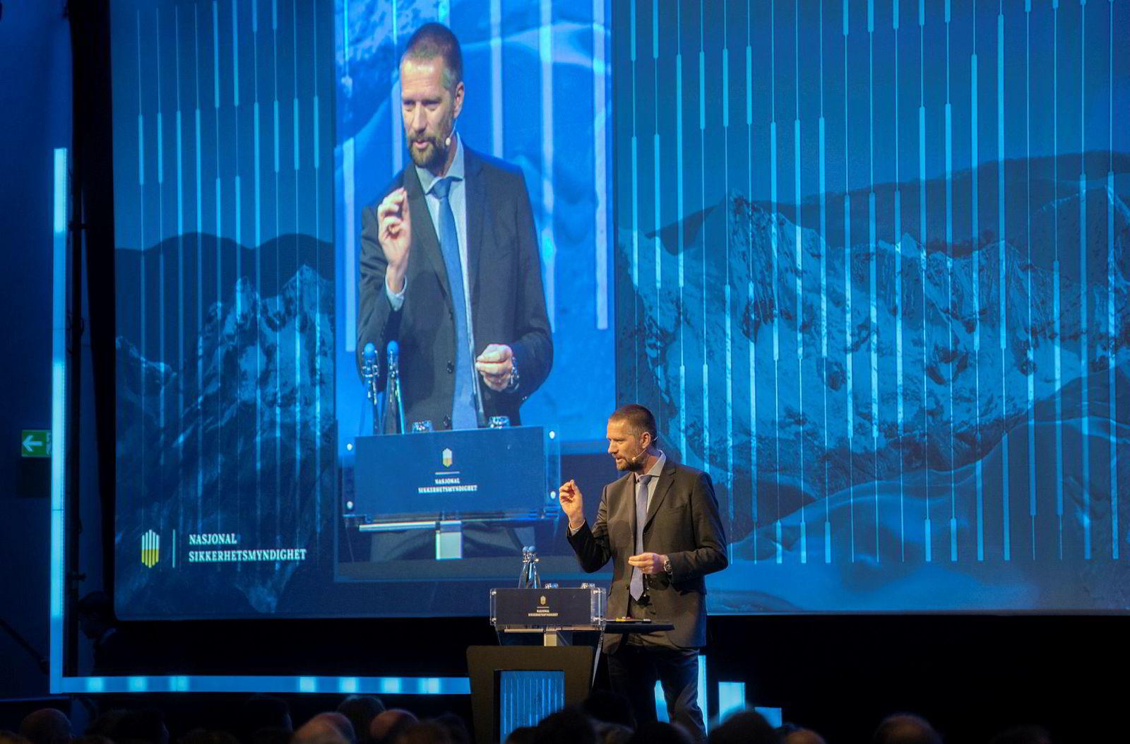 Guillaume Poupard, sjef for franske ANSSI, gjestet Sikkerhetskonferansen i Oslo onsdag.