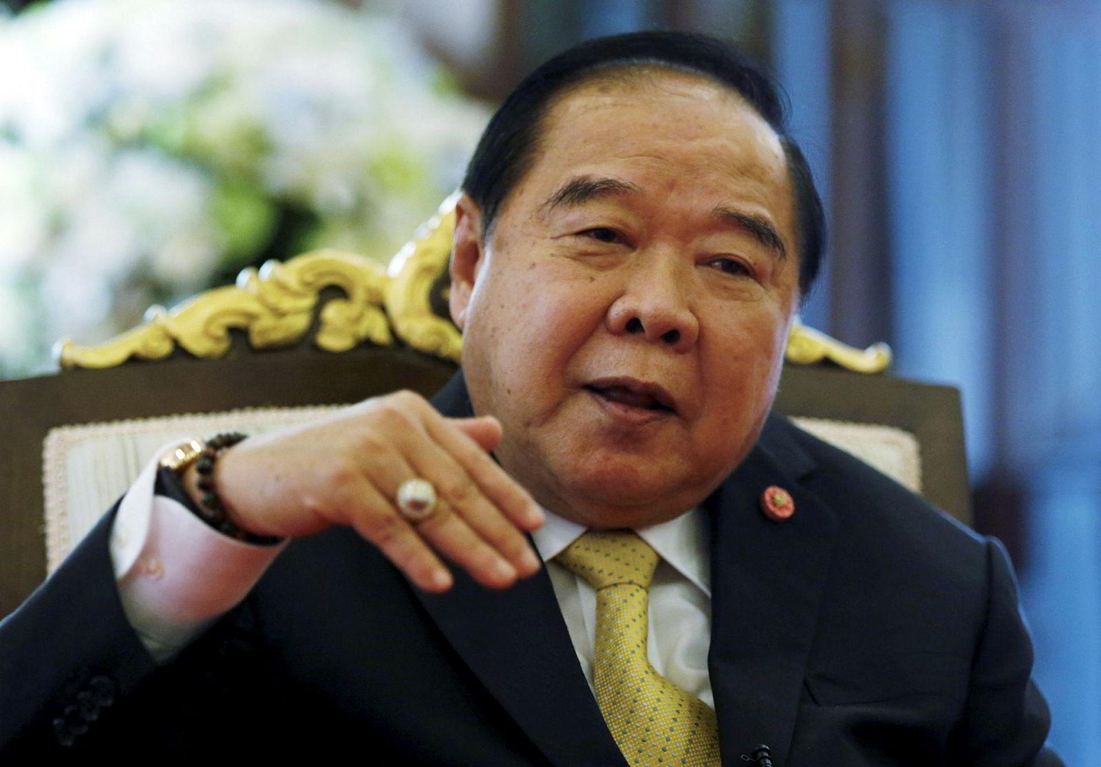 Prawit Wongsuwan, Thailands visestatsminister og forsvarsminister.