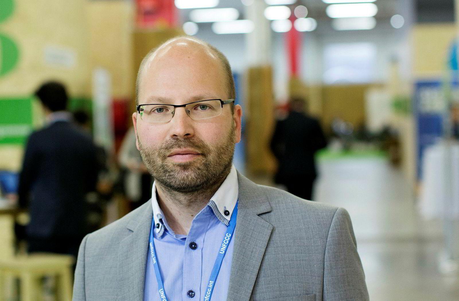 Cicero-forsker Steffen Kallbekken, her under klimatoppmøtet i Paris.