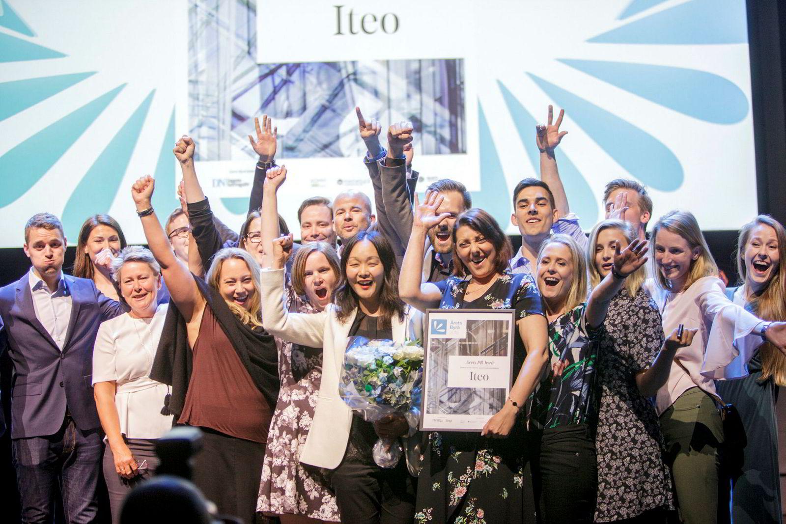 Gjengen i Iteo tok hjem prisen for årets pr-byrå for andre året på rad.
