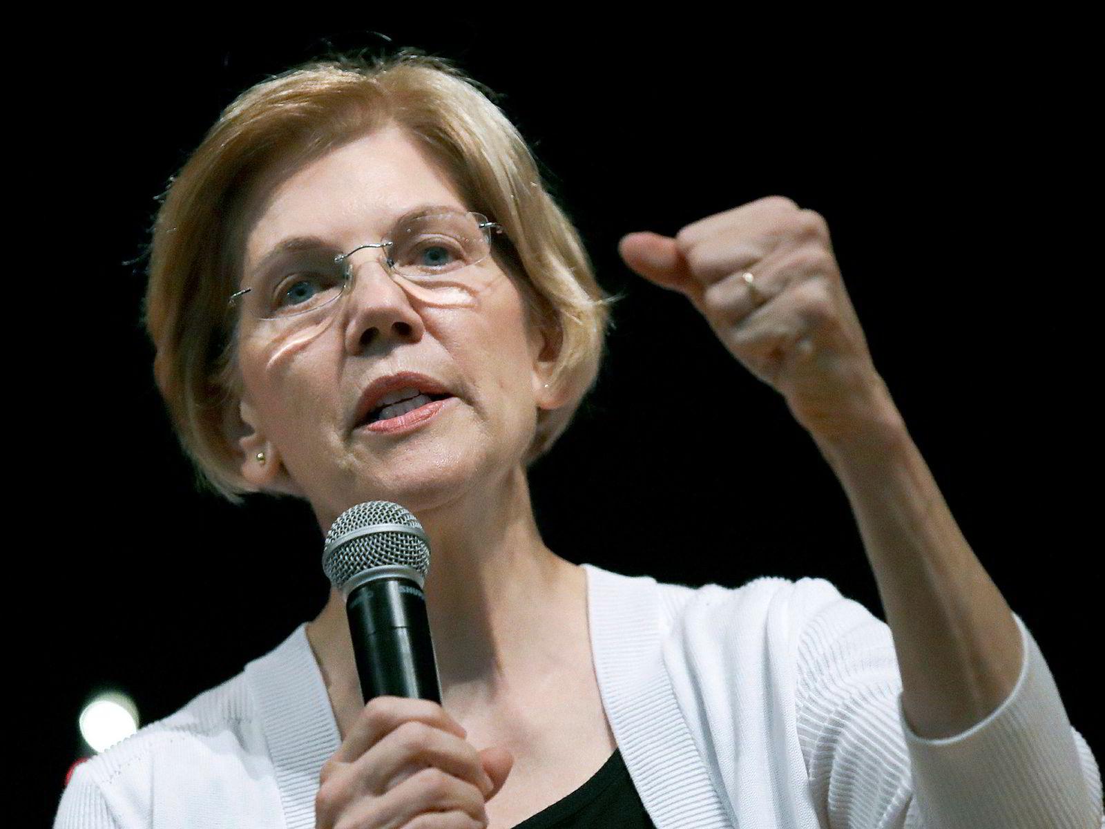 Senator Elizabeth Warren må først konsentrere seg om å vinne senatsvalget i Massachusetts i november.