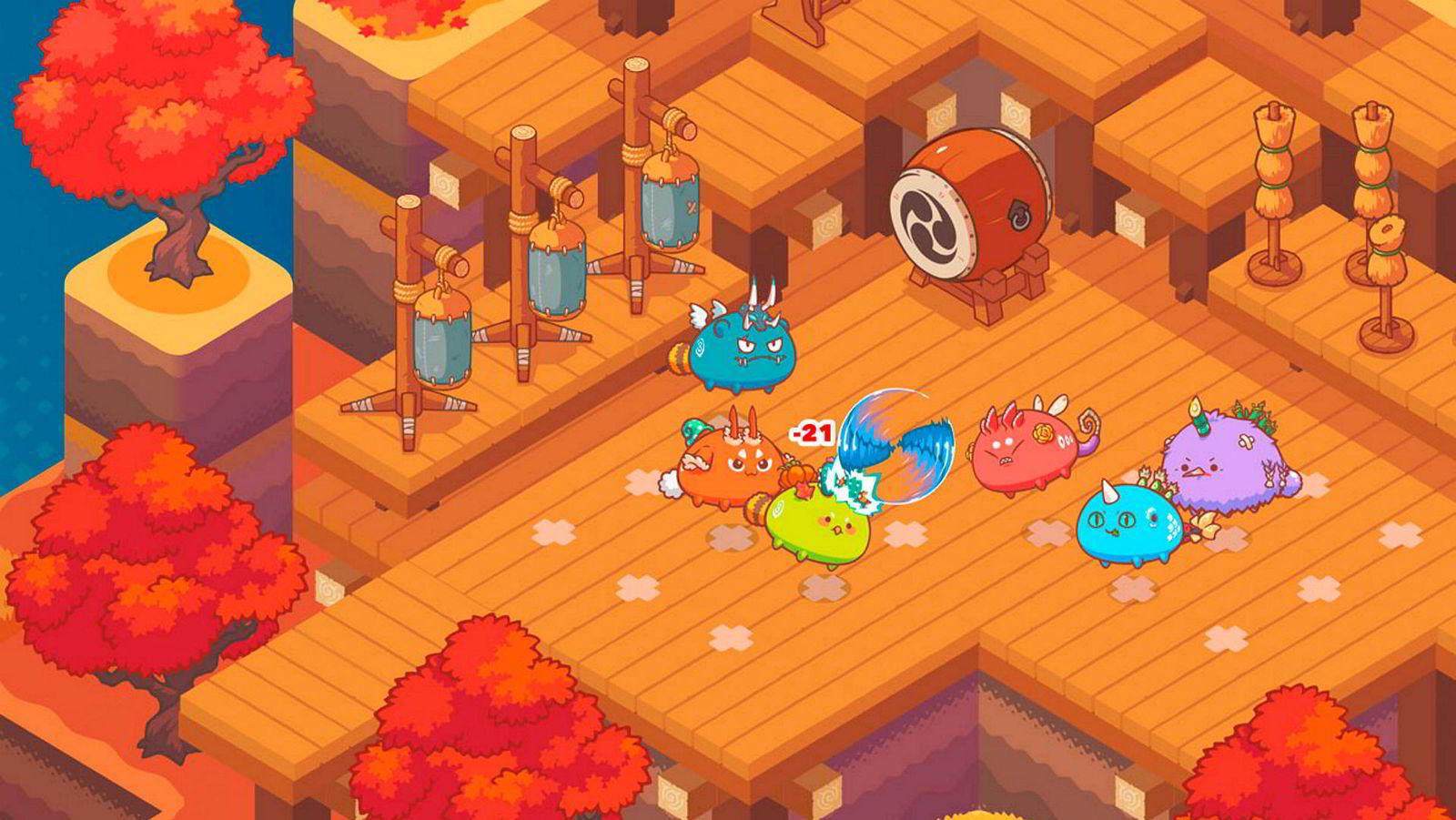 Her slåss tre kryptokjæledyr mot tre andre kryptokjæledyr.