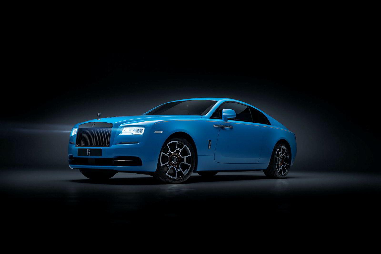 Rolls-Royce Wraith i en Black Badge-versjon.