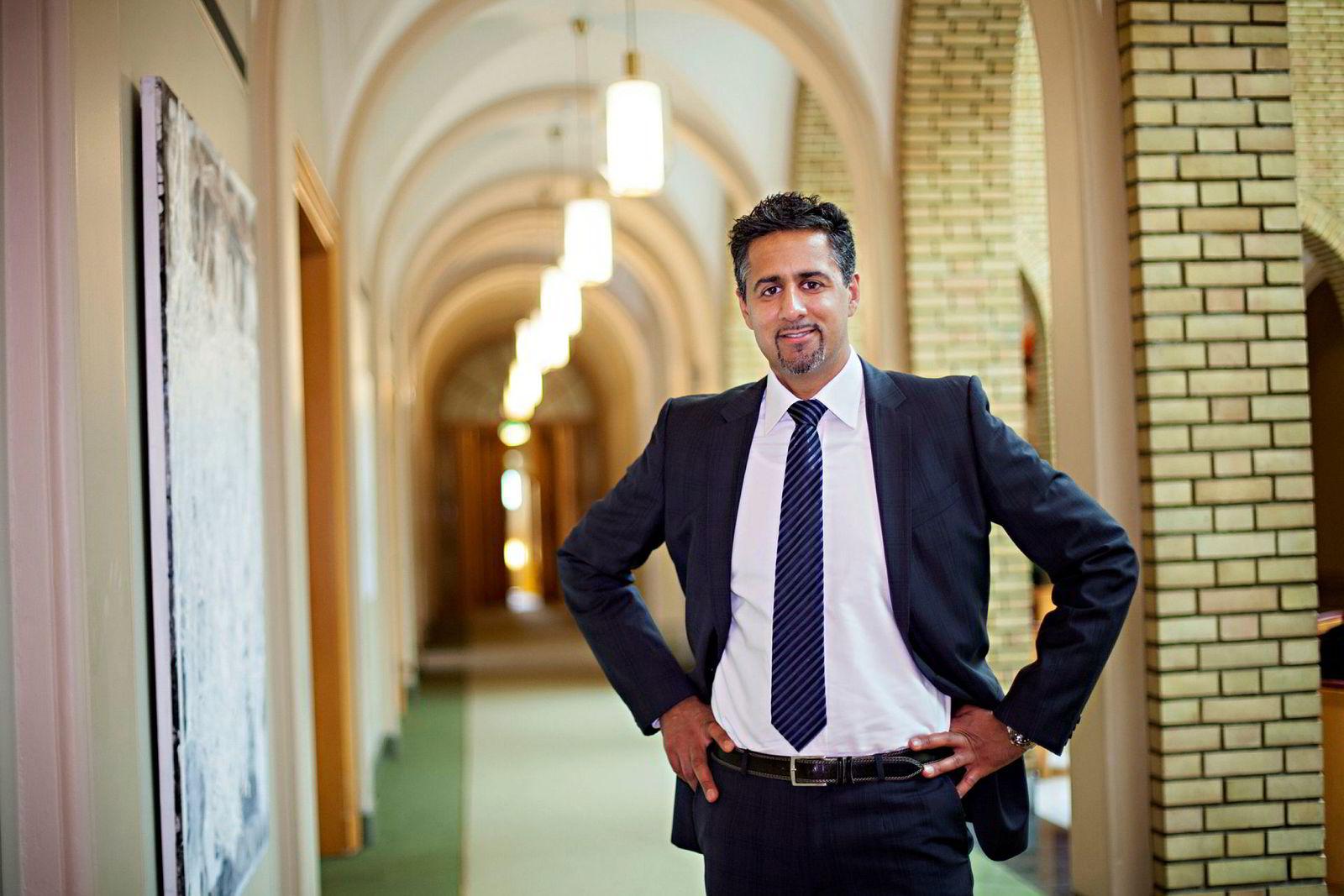 Venstre-politiker Abid Raja.