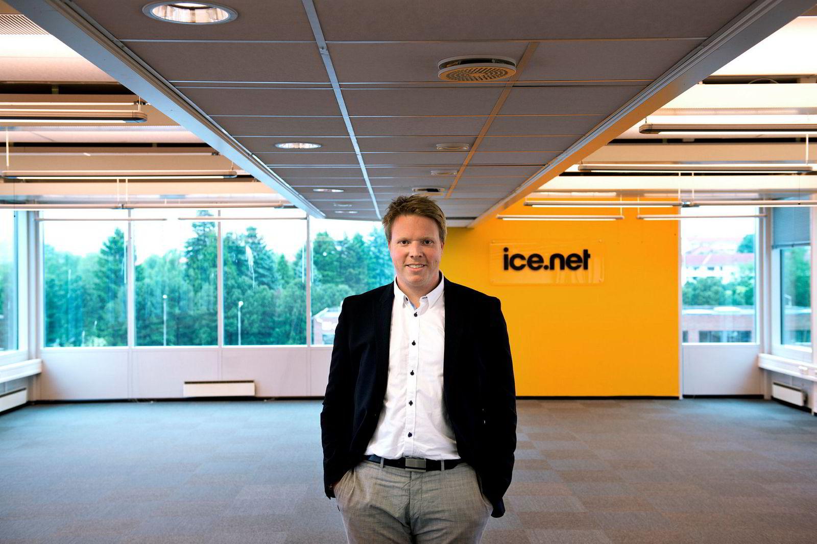 «Som tredje nettoperatør i Norge har vi ambisjoner å ta markedsandeler. Hvis ikke hadde det ikke vært noe vits i å bygge nettet», sier administrerende direktør Eivind Helgaker i Ice.