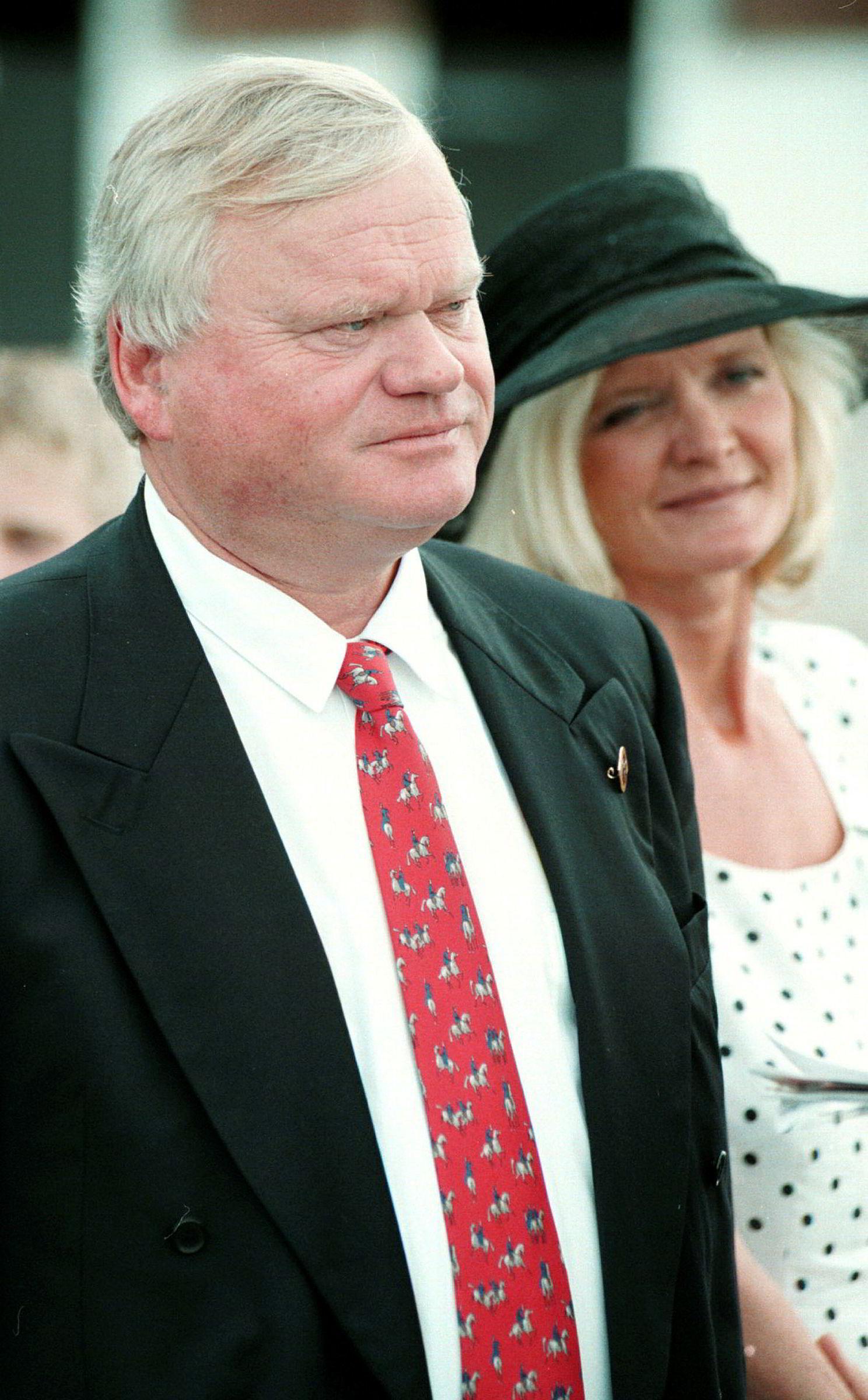 Inger Astrup Fredriksen sammen med John Fredriksen i 1997.