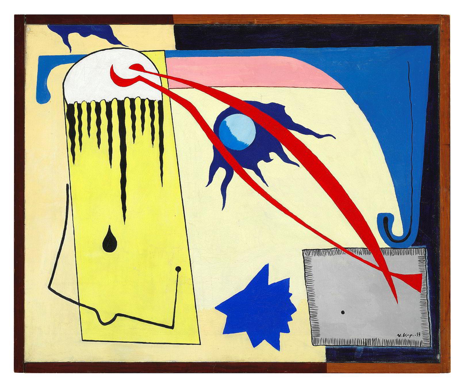«Befruktning» (1933) av Vilhelm Bjerke-Petersen er blant verkene som stilles ut i Aalborg. Tilhører Canica Kunstsamling.