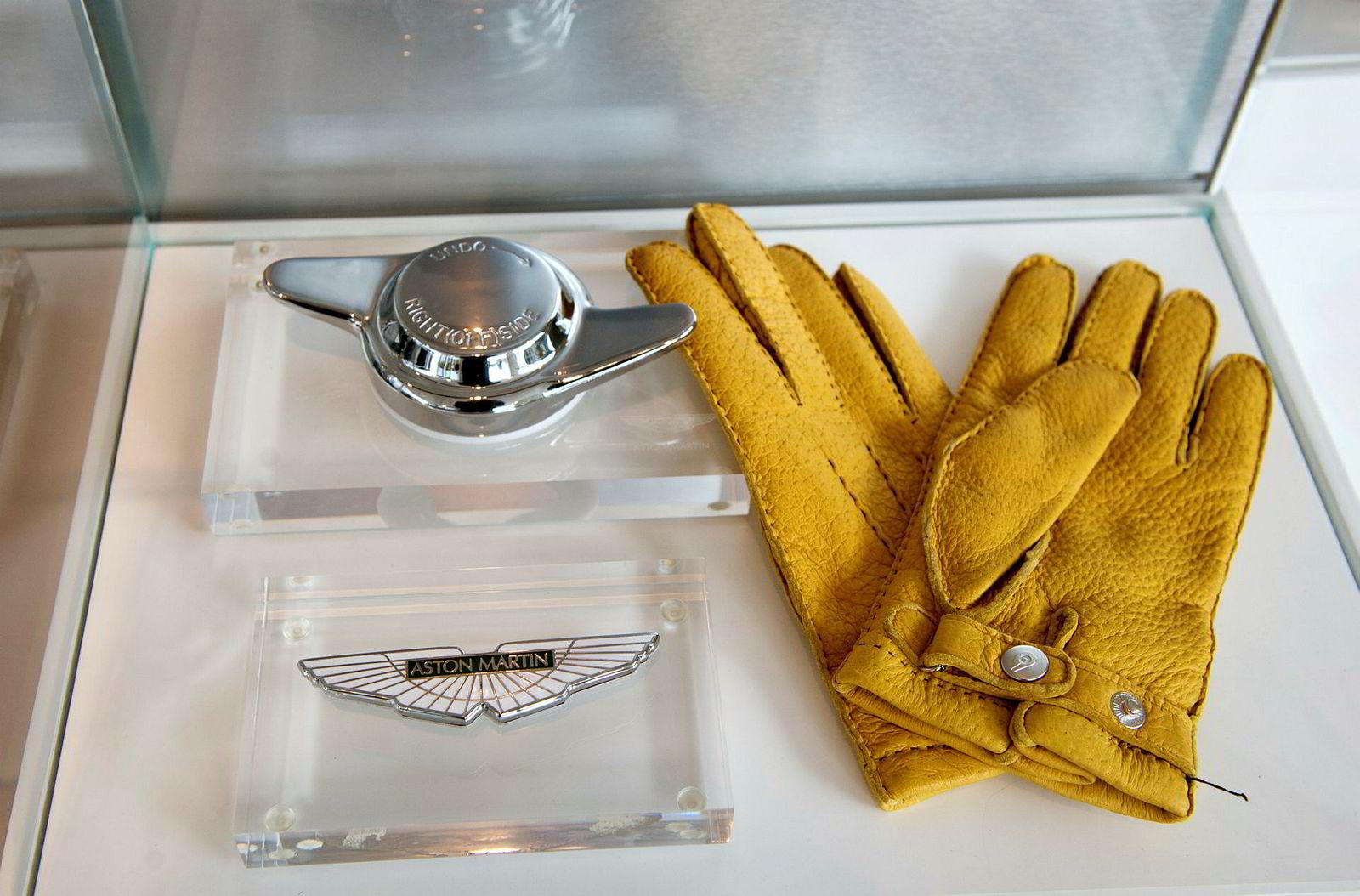 Detaljer fra Aston Martins showroom i London, da DN sist var på besøk i 2012.