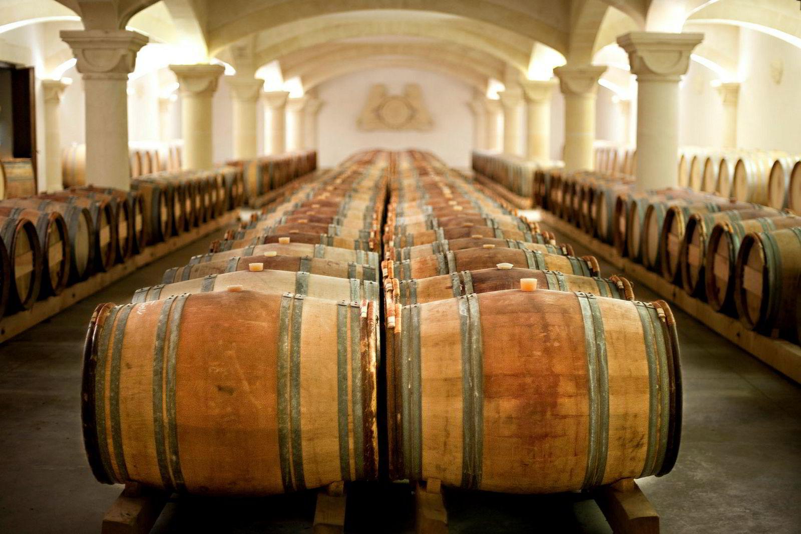 Vinkjelleren på Saint Martin de la Garrigue i Languedoc i Frankrike er på over 3000 kvadratmeter.