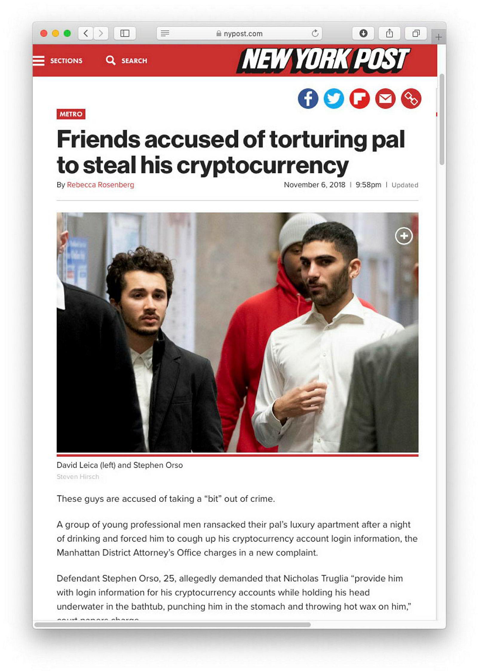Fire menn presset en venn til å gi fra seg innloggingen til hans kryptovaluttakontoer.