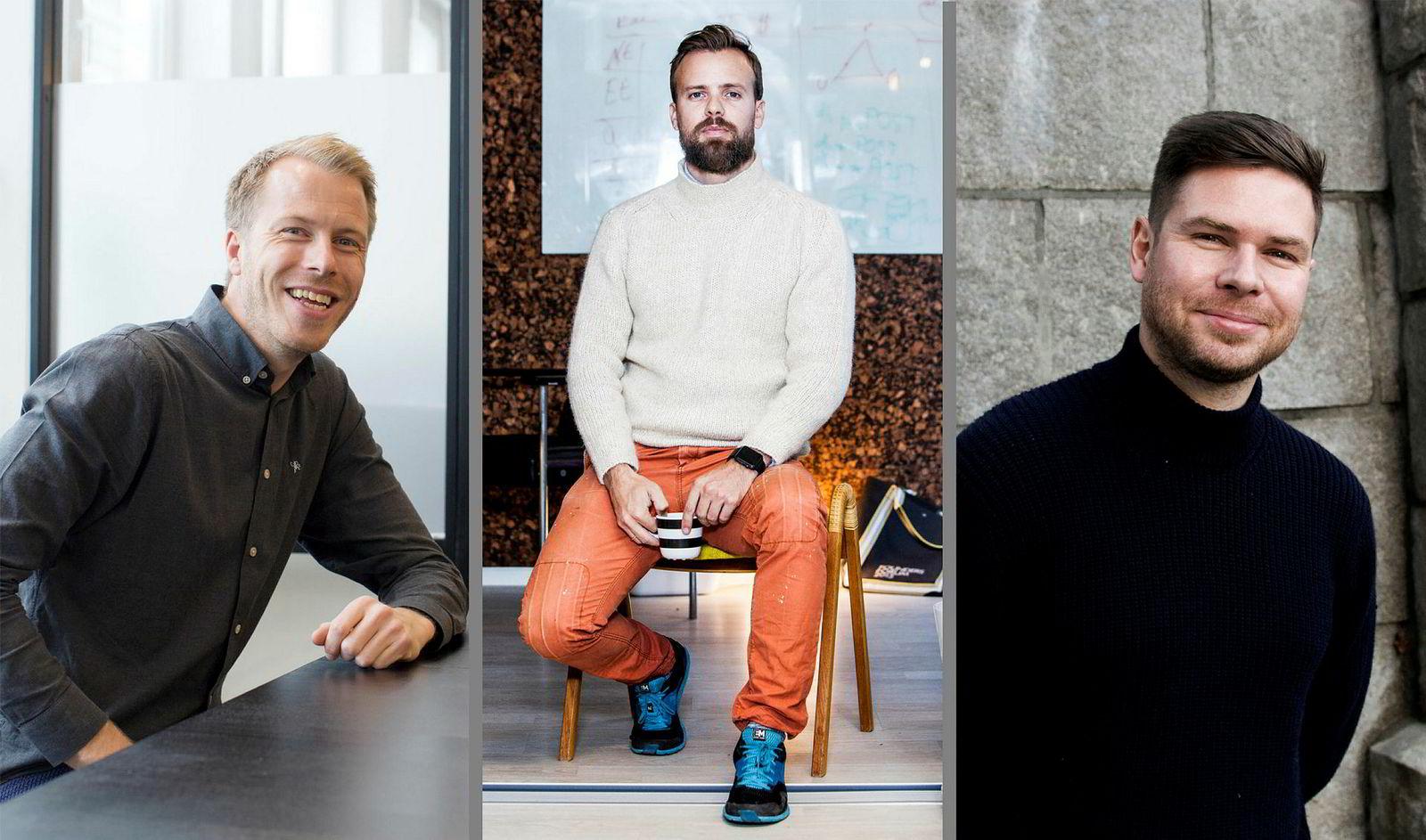 Patrik Berglund i Xeneta, Johan Brand fra Kahoot og Kjartan Slette i Unacast har alle det til felles at de har startet teknologiselskaper som hvite menn i 30-årene.
