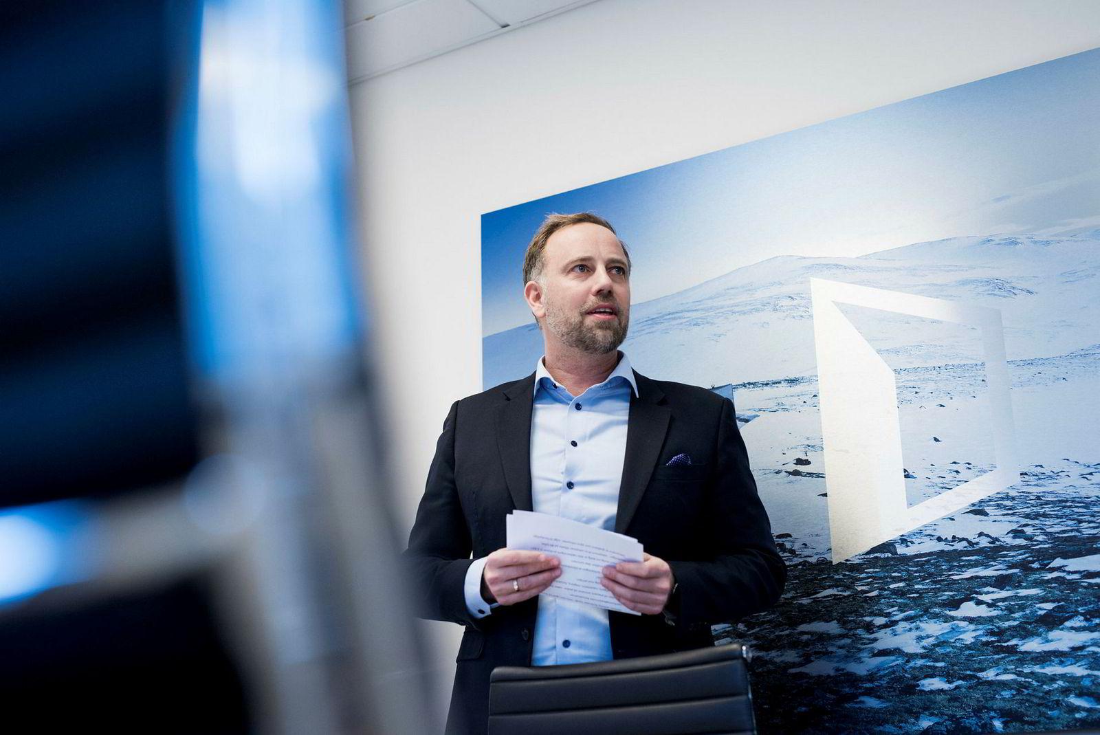 Christian Vammervold Dreyer administrerende direktør i Eiendom Norge legger hver måned frem nasjonale og regionale boligtall.