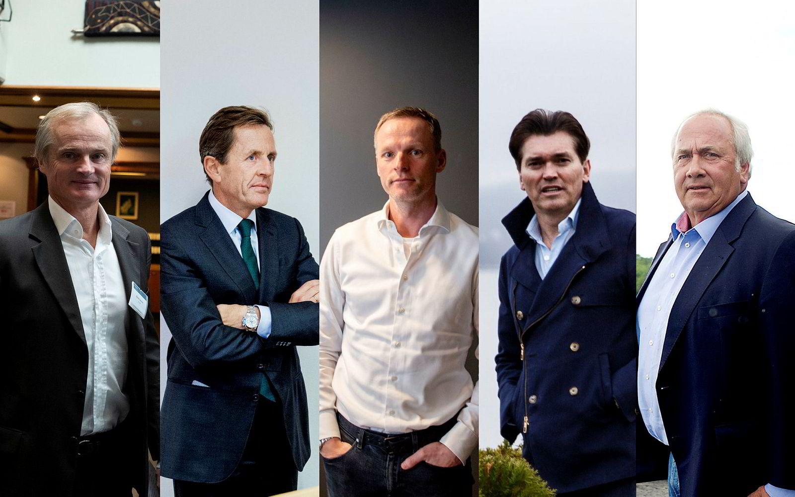 Øystein Stray Spetalen, Arne Blystad, Ketil Skorstad, Arne Fredly og Torstein Tvenge kastet seg på da Norske Skog gikk på børs igjen i oktober.