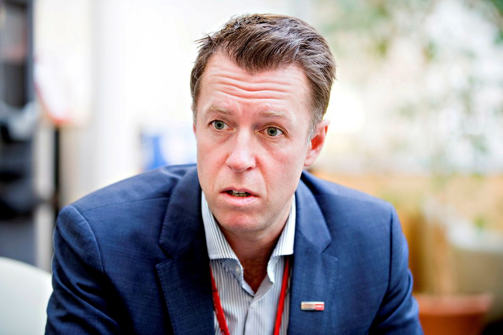 Informasjonsdirektør Lasse Sandaker-Nielsen i Norwegian.