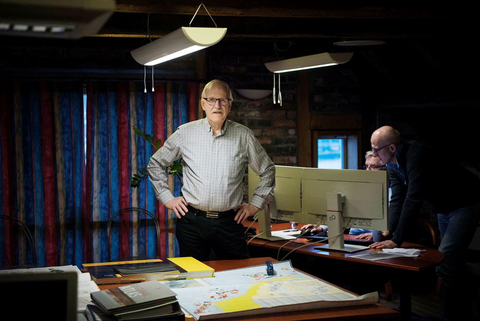 Arne Bernhard Larsen leder leteselskapet Skagen 44, som har jaktet etter olje siden 2007.