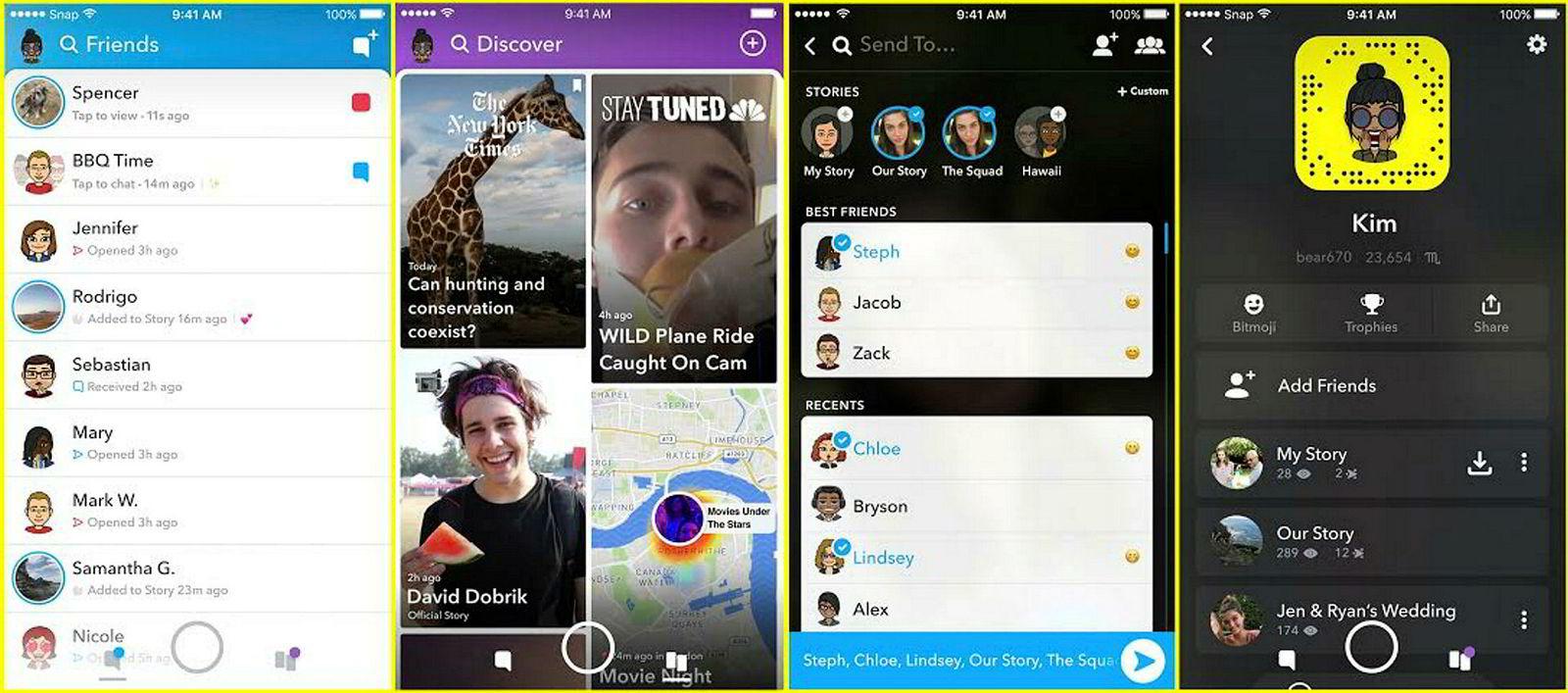 I den nye Snapchat-oppdateringen blir det et klarere skille mellom venner og kommersielle innholdsskapere.