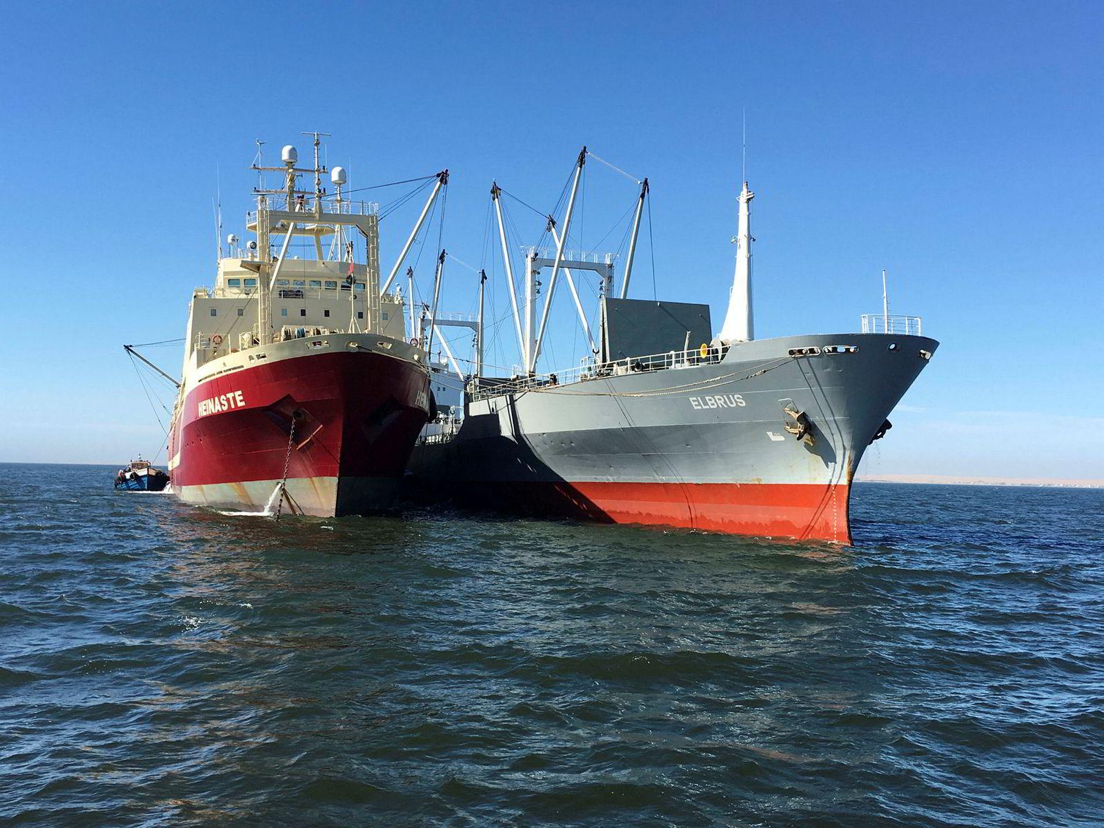 «Heinaste» er et av Samherji-skipene som har fisket hestemakrell i Namibia.