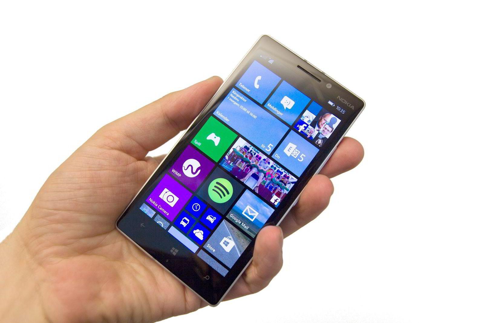Nokia Lumia 930 er Microsofts første smarttelefon.
