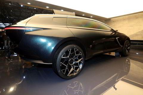 Aston Martins eget elbilmerke presenterer Lagonda All-Terrain concept i Genève 2019.