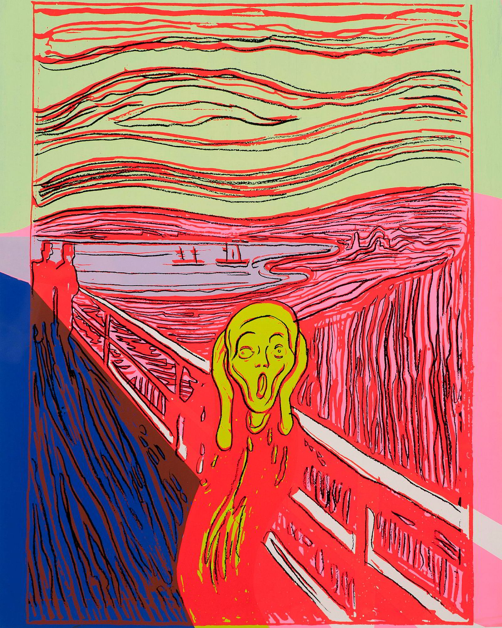 Einar Aas' dyreste bilde var en Andy Warhol-serigrafi etter Munchs Skrik, som ble solgt hos Grev Wedels Plass Auksjoner i forrige uke.