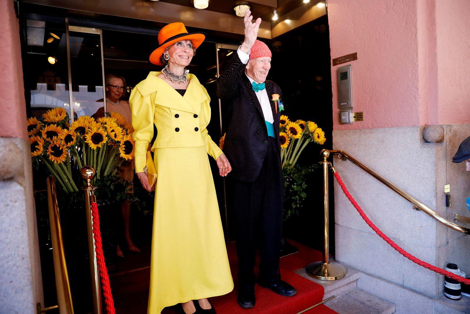 Sissel Berdal Haga og Olav Thon giftet seg på Hotel Bristol i Oslo fredag formiddag. ---