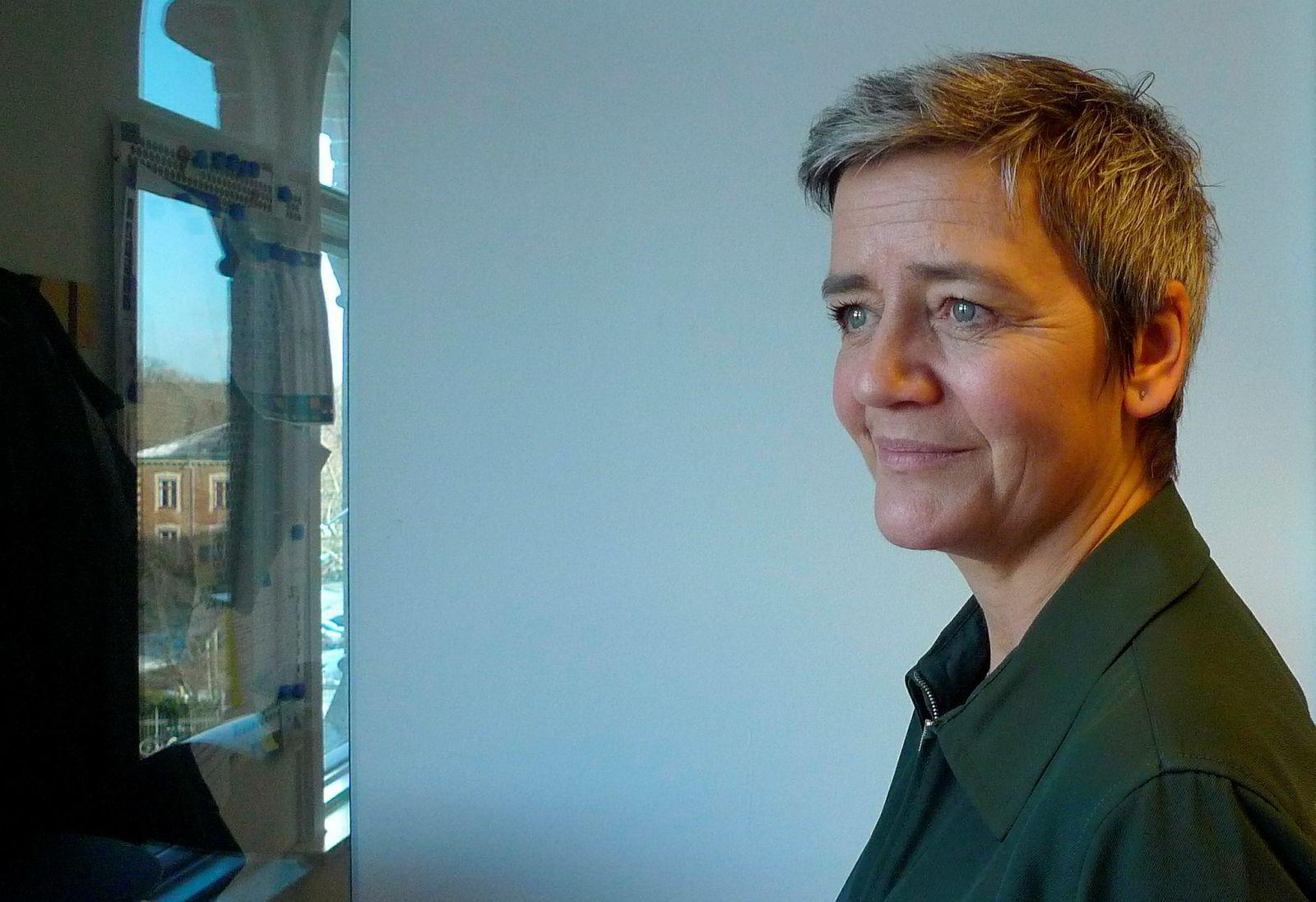 Margrethe Vestager har besluttet at det ikke blir noen togfusjon mellom Siemens og Alstom.