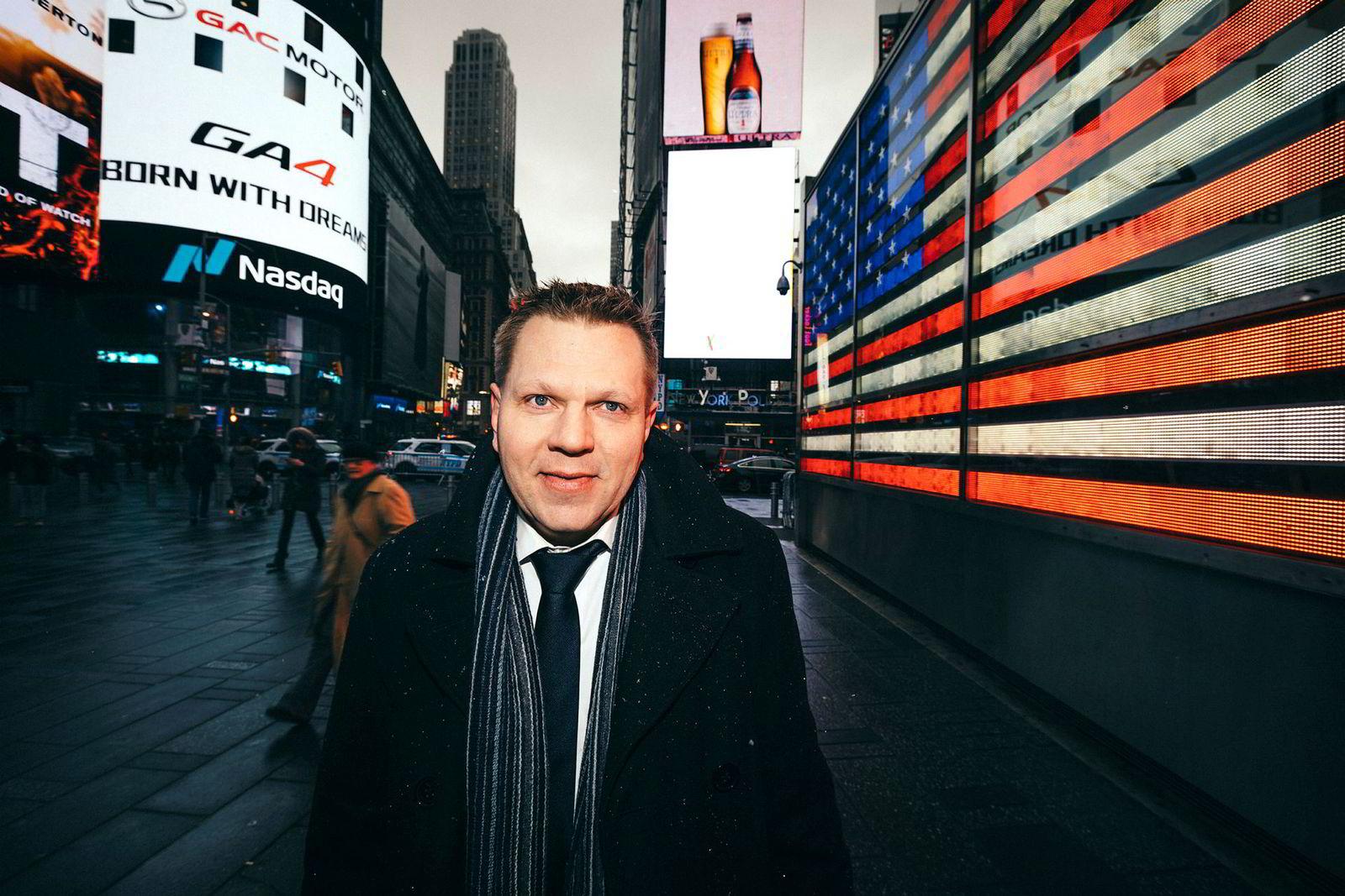 Sjefstrateg Leif-Rune Rein i Nordea er overrasket over svak børsutvikling internasjonalt.