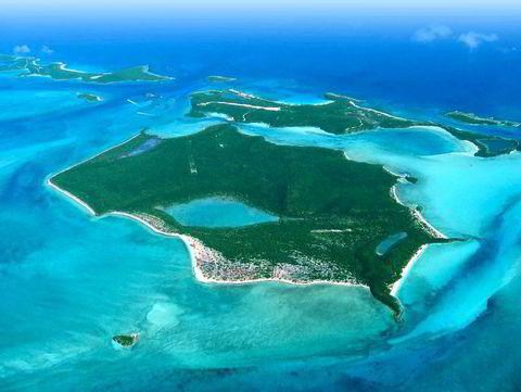 Darby Island, Bahamas, er på 2241 mål. Den har en prisantydning på 40 millioner dollar.