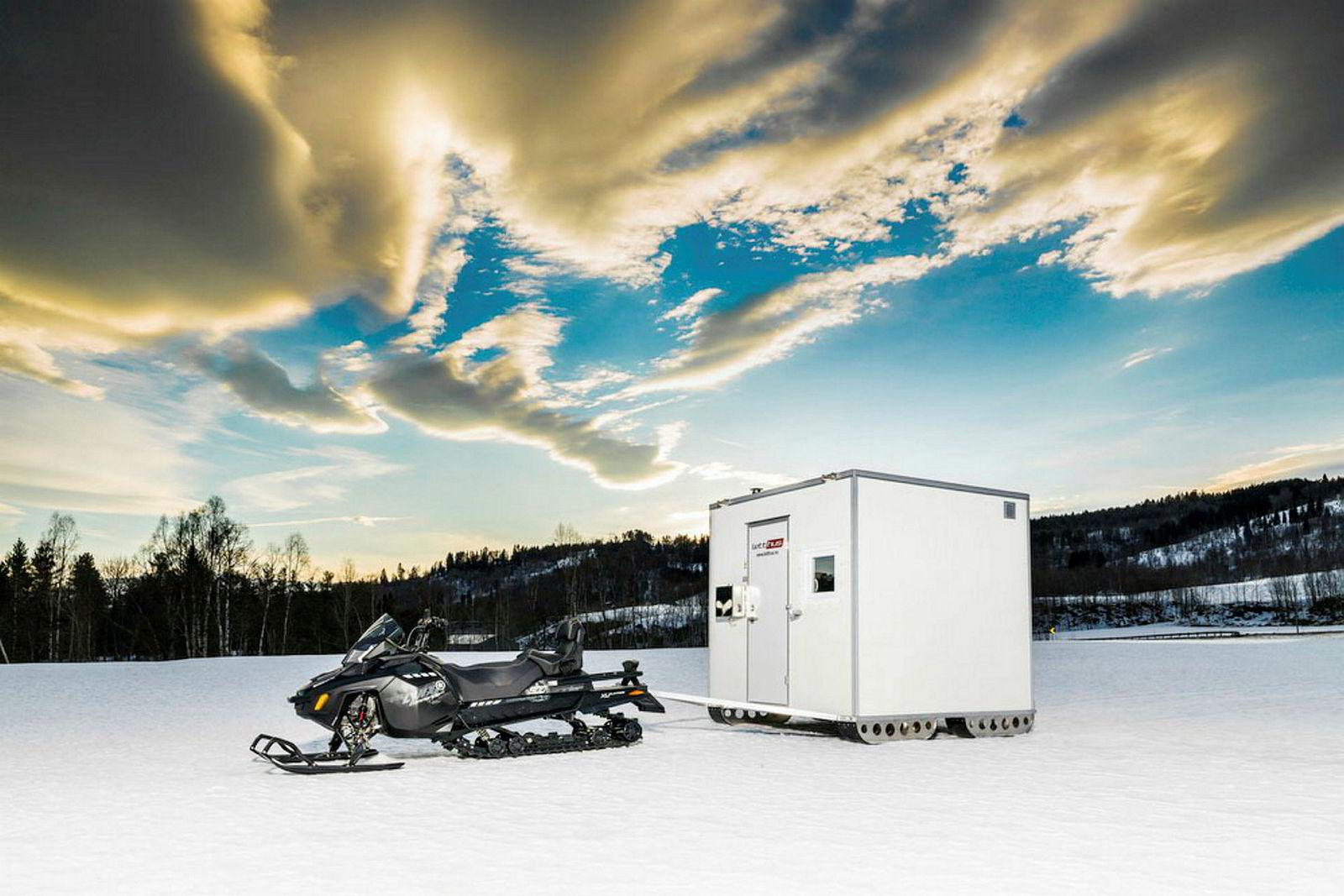 Vognene kan leveres med meier i stedet for hjul slik at de kan trekkes med snøscooter.