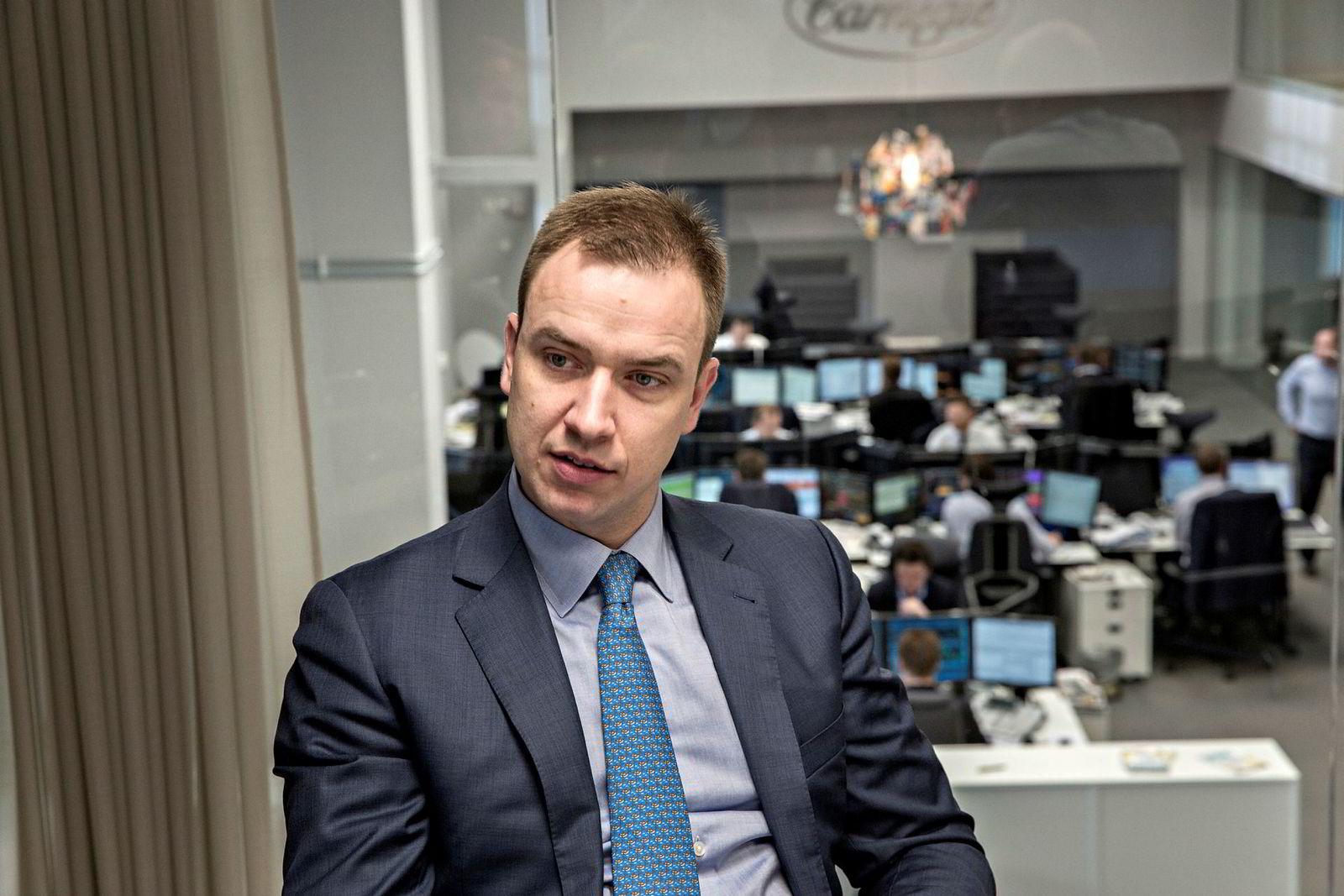 Corporate-sjef Petter J. Hagen, Carnegie.