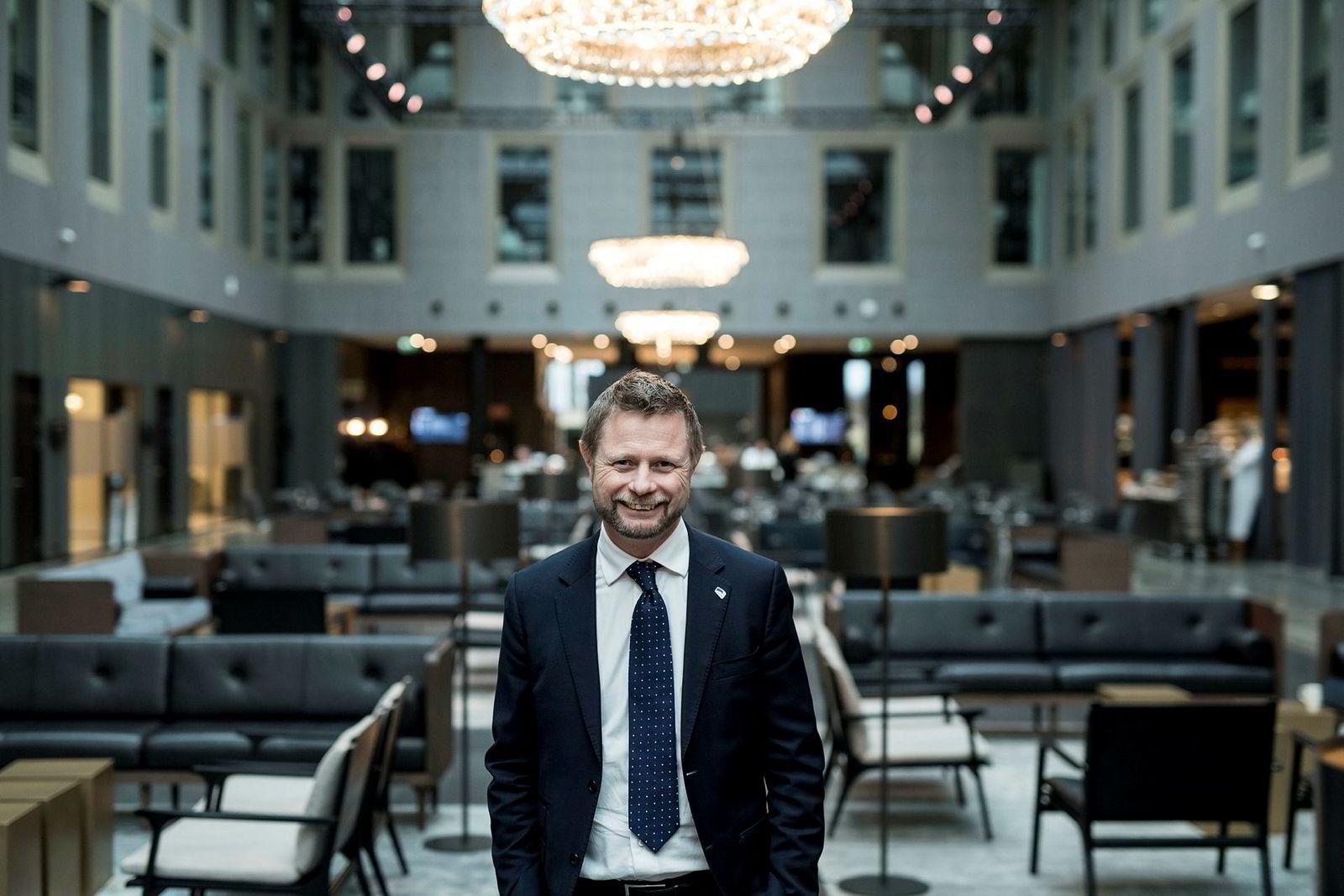 Helseminister Bent Høie ønsker helseprofitører innenfor både helsetjenester og ny teknologi.