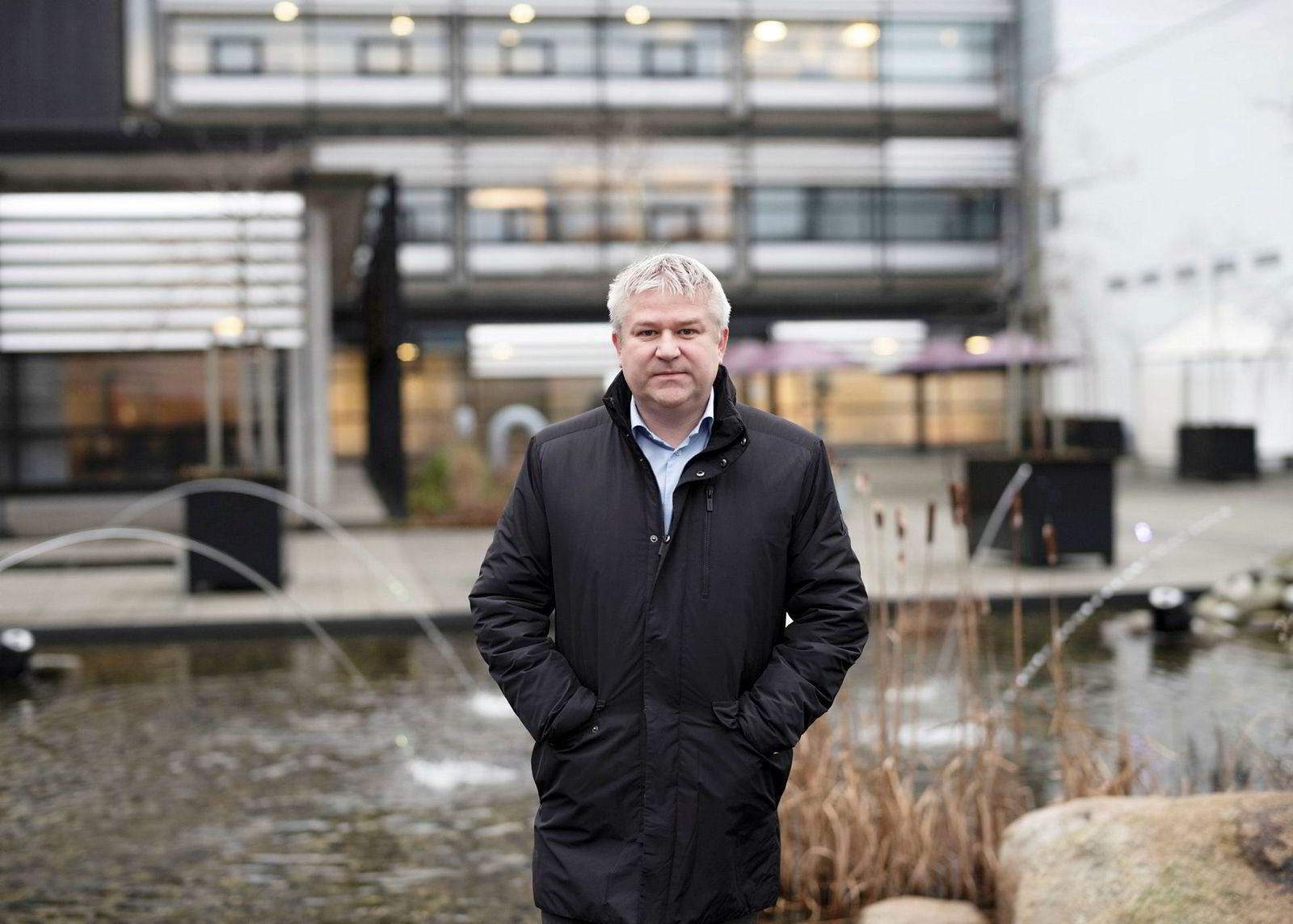 Konserndirektør for fornybar energi i Equinor, Pål Eitrheim, utenfor selskapets hovedkontor på Forus utenfor Stavanger.