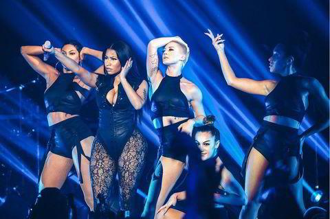 Nicki Minaj var selvskreven gjest på scenen på Barclays Center i Brooklyn.
