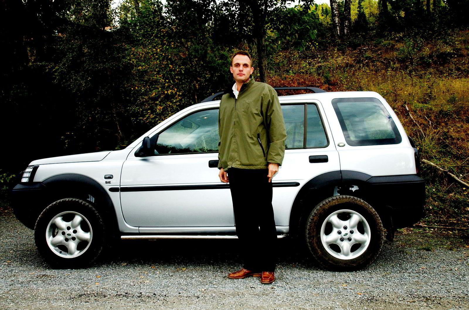 Marius Hayler, fra da han jobbet med Land Rover for Volvo Personbiler Norge, under DNs firmabiltest i 2003.