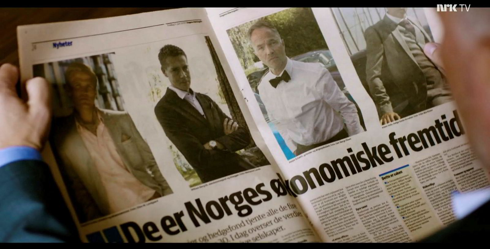 En av karakterene i serien er en DN-journalist. Sjefredaktør Amund Djuve tror ikke det er god pr for avisen.