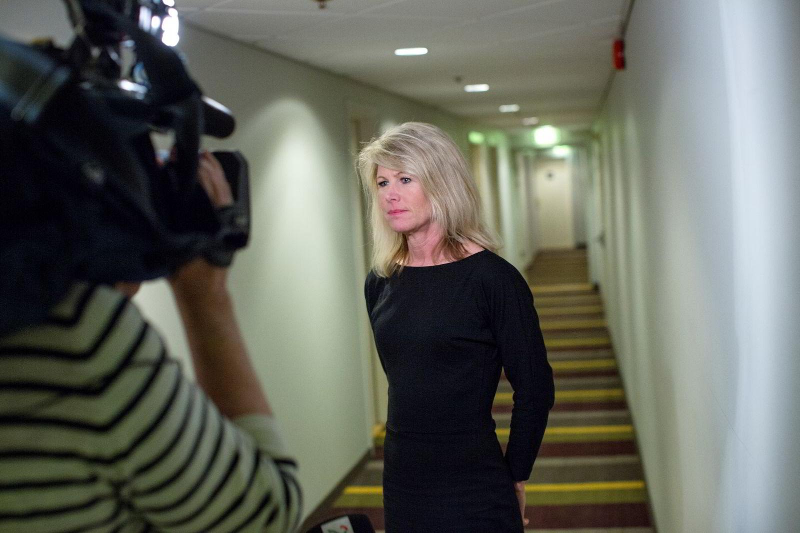 Tine Widerøe rektor ved skolen Westerdals Oslo ACT har pressemøte på Scandic Oslo City.