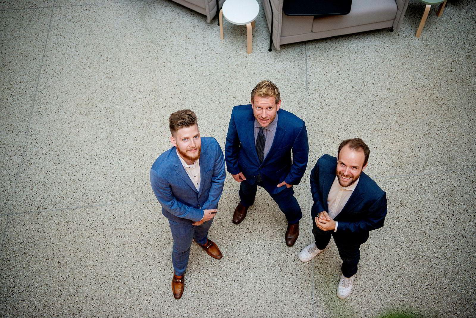 Storm Communications Marius Parmann (til høyre) er svært fornøyd med å ha fått med seg Ronald Griffin og Øyvind Kvamme-Vik på laget.