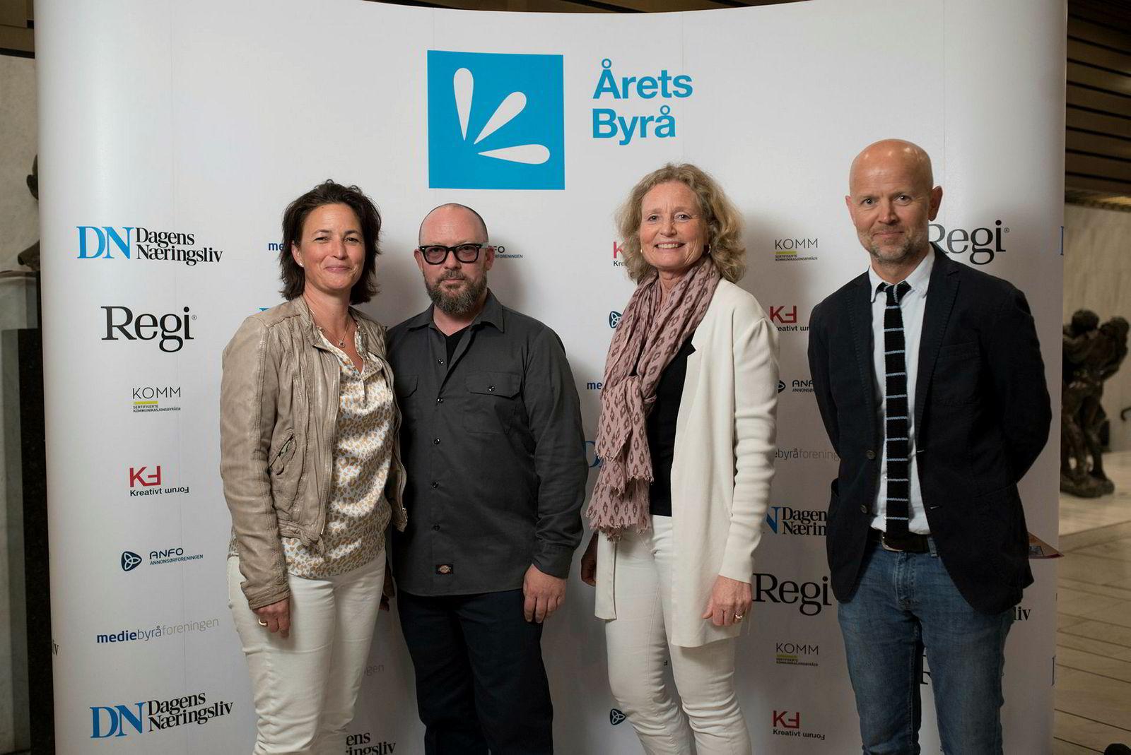 Fra venstre: Nathalie Eyde Warembourg, Stig Jøssund, Cecilie Faye og Tarald Alfsen fra mediebyrået Maxus.