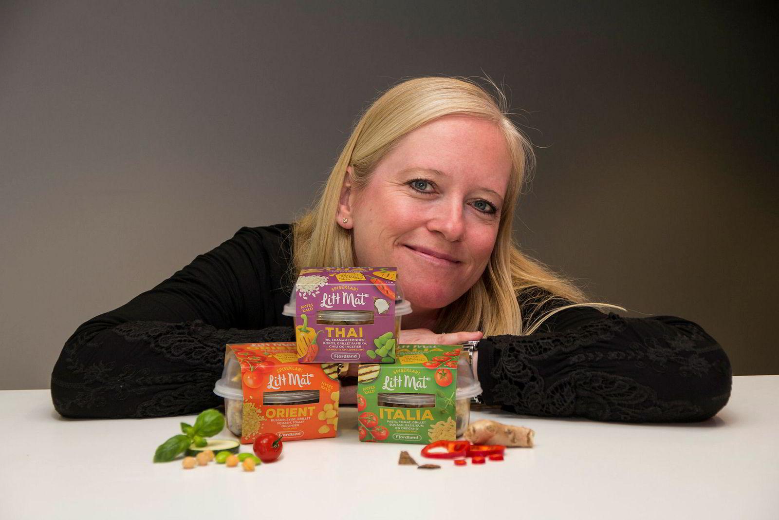 Markedssjef Ellen Molstad Dale tror Fjordland få et nytt ben å stå på når selskapet nå forsøker å posisjonere seg på mellommåltider.